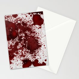 Blood Stains Stationery Cards
