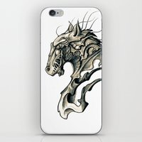 horse iPhone & iPod Skins featuring Horse by Nuam