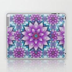 Pink- purple - turquoise Faux stitch pattern Laptop & iPad Skin