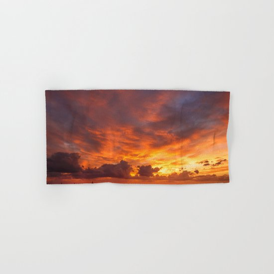Burning Sunset Hand & Bath Towel
