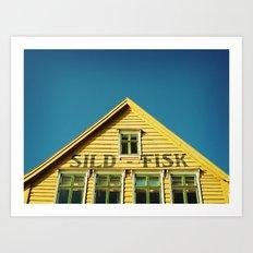 Sunny Yellow House Art Print