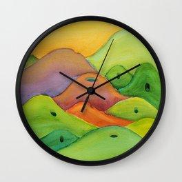 spiritual drawing - singing hills - Psalm 98:8 Wall Clock