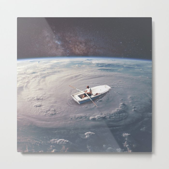 Rowing the Cosmos Metal Print