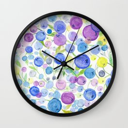 Blueberries' Dream Wall Clock