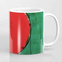 Tomato Face - Abstract Surrealism psychedelic illustration Coffee Mug