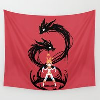 rogue Wall Tapestries featuring Fox Summoner by Freeminds