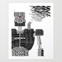 android Art Prints featuring ANDROID by Andrew Sebastian Kwan