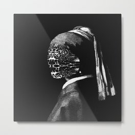 Girl with No Face Metal Print