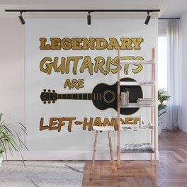 Left Handed Guitarist Lefty Legendary Guitar Player Gift Wall Mural