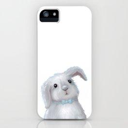 White Rabbit Boy isolated iPhone Case