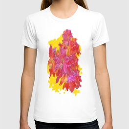 April Cacti Flowers Abstract T-shirt