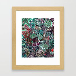 Jolly Geometric Framed Art Print