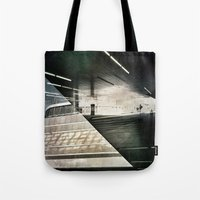 montreal Tote Bags featuring Montreal urbain by Jean-François Dupuis
