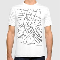 London Road Blocks White Mens Fitted Tee White SMALL