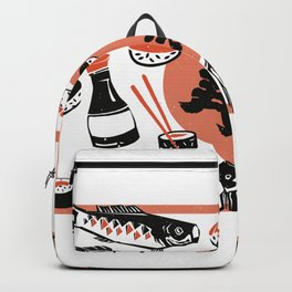Sushi And Soy Sauce Backpack