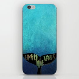 Empty the Tanks - A Pledge for Orcas iPhone Skin