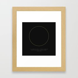 Albert Camus Quote Framed Art Print