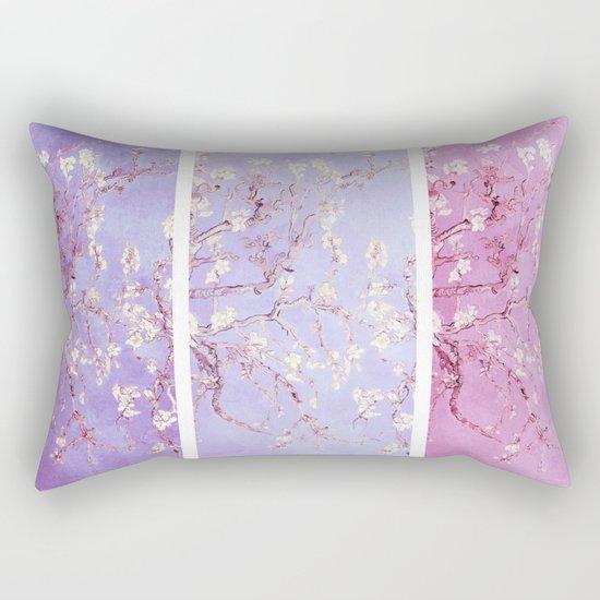 Vincent Van Gogh : Almond Blossoms Lavender Panel Art Rectangular Pillow