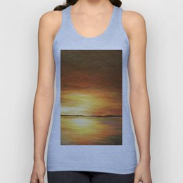 morning coffee and salt air Unisex Tank Top