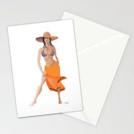 Minimalist Girl Stationery Cards