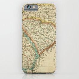 Vintage Map Print - A New Universal Atlas of the World (1825) - North & South Carolina; Georgia iPhone Case