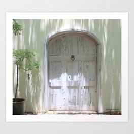 Rustic White Spanish Style Door Art Print