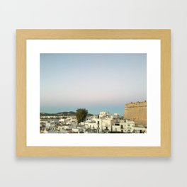 Ibiza Old Town at Sunset Framed Art Print