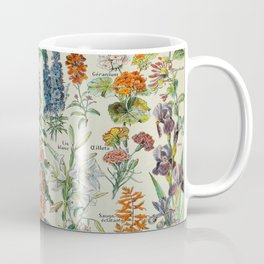 Flowers Vintage Scientific Illustration French Language Encyclopedia Lithographs Educational Coffee Mug