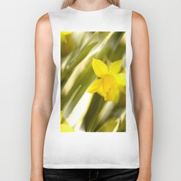 Spring atmosphere with yellow narcissus Biker Tank