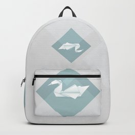 Origami swan Backpack