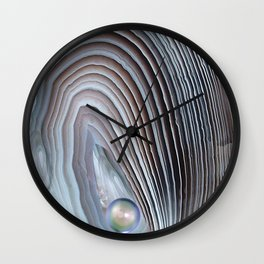 Wild Pearl Abstract Wall Clock