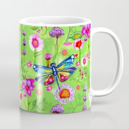 Tropical Dragonfly Garden Coffee Mug
