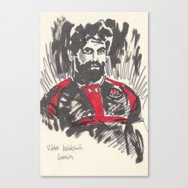 Rugby World Cup 2015 Portraits : Georgia - Viktor Kolelishvili Canvas Print