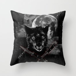 Hungry knights Throw Pillow