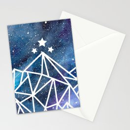 Watercolor galaxy Night Court - ACOTAR inspired Stationery Cards