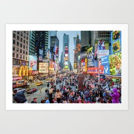 Times Square Tourists Art Print
