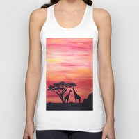 africa Tank Tops featuring Africa by Monica Georg-Buller