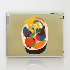 Fruits in wooden bowl Laptop & iPad Skin
