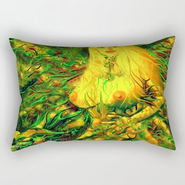 Art nude fairy wood nymph ladykashmir  Rectangular Pillow