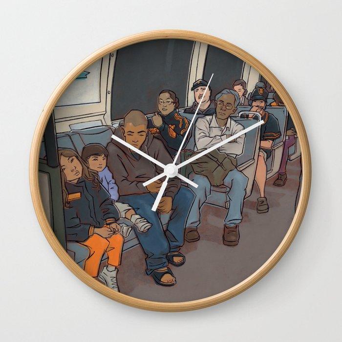 SUBWAY CROWD Wall Clock