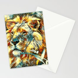 AnimalArt_Lion_20170605_by_JAMColors Stationery Cards
