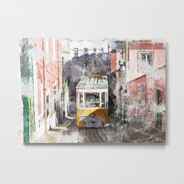 Lisbon Trams II Metal Print