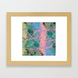 Pink and Green Paint Framed Art Print