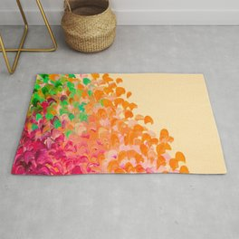 CREATION IN COLOR Autumn Infusion - Colorful Abstract Acrylic Painting Fall Splash Ombre Ocean Waves Rug