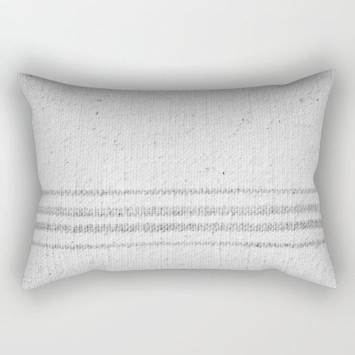 VINTAGE FARMHOUSE GRAIN SACK Rectangular Pillow