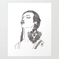givenchy Art Prints featuring Givenchy by Grace Ban