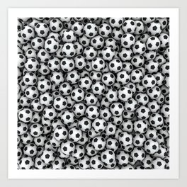 Soccer balls Art Print