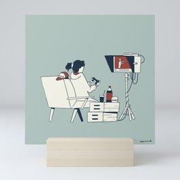 Video assistant in quarantine Mini Art Print