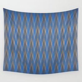 Argyle Steel Blue Shimmer Wall Tapestry