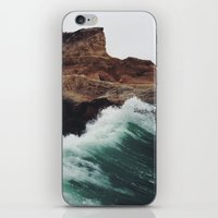 sea iPhone & iPod Skins featuring Montaña Wave by Kevin Russ